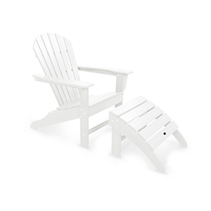 South Beach White Adirondack Two Piece Seating Set