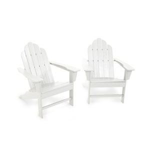 Long Island White Adirondack 98-Inch Two Piece Seating Set