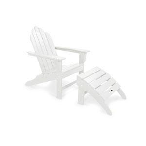 Long Island White Adirondack 78-Inch Two Piece Seating Set