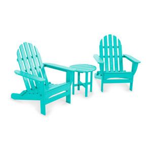 Aruba Classic Folding Adirondack Three Piece Seating Set