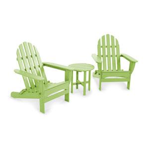 Lime Classic Folding Adirondack Three Piece Seating Set