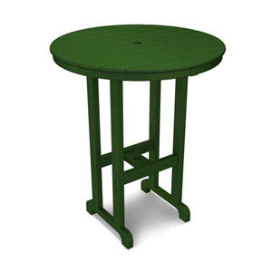 La Casa Café Green Round 36 Inch Bar Height Table