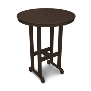 La Casa Café Mahogany Round 36 Inch Bar Height Table