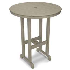La Casa Café Sand Round 36 Inch Bar Height Table