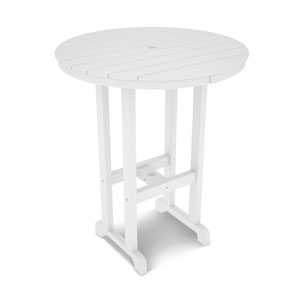 La Casa Café White Round 36 Inch Bar Height Table