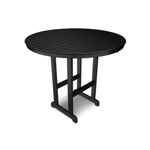 La Casa Café Black Round 48 Inch Bar Height Table