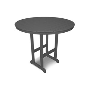 La Casa Café Slate Grey Round 48 Inch Bar Height Table