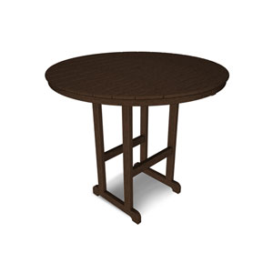 La Casa Café Mahogany Round 48 Inch Bar Height Table