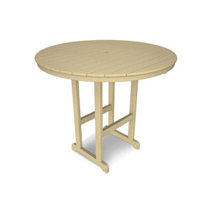 La Casa Café Sand Round 48 Inch Bar Height Table