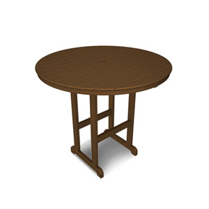 La Casa Café Teak Round 48 Inch Bar Height Table