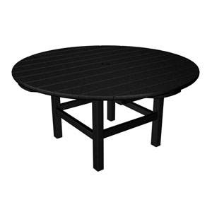 Black Round 38 Inch Conversation Table