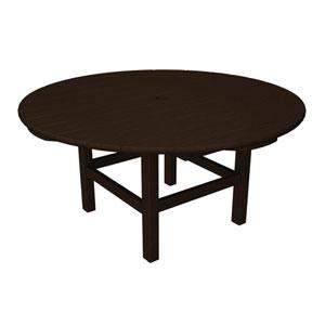 Mahogany Round 38 Inch Conversation Table