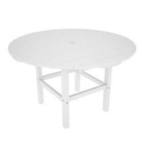 Kid White 38 Inch Dining Table