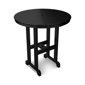 La Casa Café Black Round 36 Inch Counter Height Table
