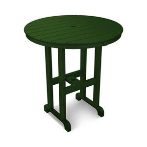 La Casa Café Green Round 36 Inch Counter Height Table