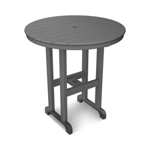La Casa Café Slate Grey Round 36 Inch Counter Height Table