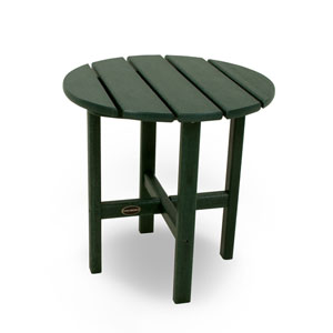 Green Round 18 Inch Side Table