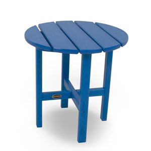 Pacific Blue Round 18 Inch Side Table