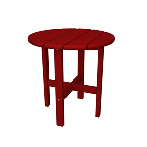 Sunset Red Round 18 Inch Side Table
