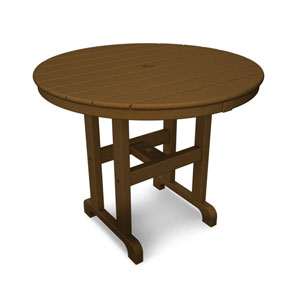 La Casa Café Teak Round 36 Inch Dining Table
