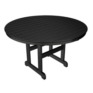 La Casa Café Black Round 48 Inch Dining Table