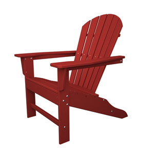 South Beach Adirondack Sunset Red Chair