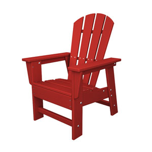 South Beach Adirondack Sunset Red Kid Chair