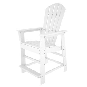 South Beach Adirondack White Counter Height Chair