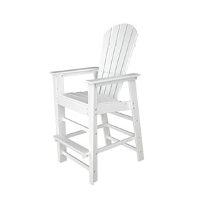 South Beach Adirondack White Bar Height Chair