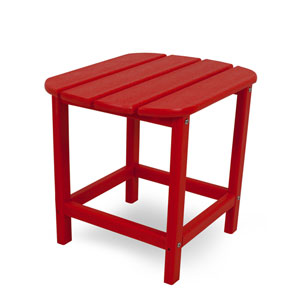 South Beach Adirondack Sunset Red 18 Inch Side Table