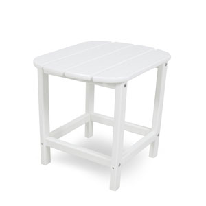 South Beach Adirondack White 18 Inch Side Table