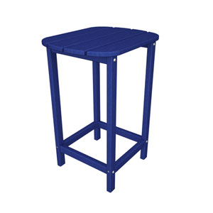 South Beach Adirondack Pacific Blue 26 Inch Counter Side Table