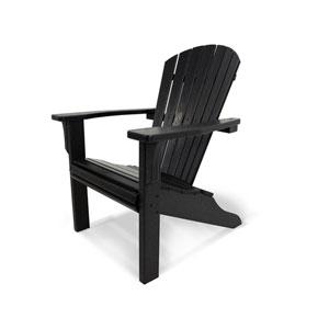 Seashell Adirondack Black Adirondack Chair