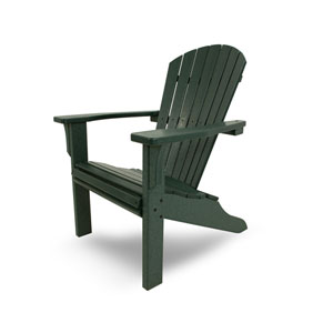 Seashell Adirondack Green Adirondack Chair