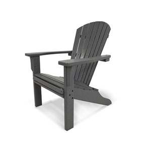 Seashell Adirondack in Slate Grey