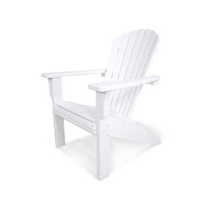 Seashell Adirondack White Adirondack Chair