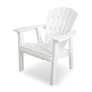 Seashell Adirondack White Casual Chair