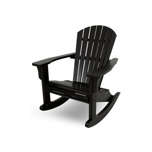 Seashell Adirondack Black Rocker
