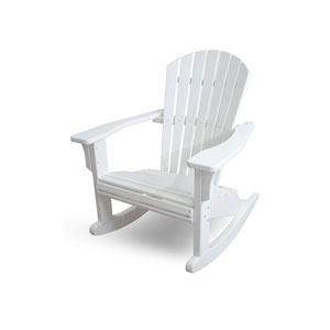 Seashell Adirondack White Rocker