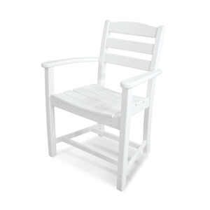 La Casa Café White Dining Arm Chair
