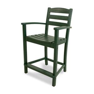 La Casa Café Green Counter Height Arm Chair