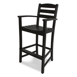 La Casa Café Black Bar Height Arm Chair