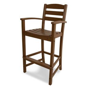 La Casa Café Teak Bar Height Arm Chair