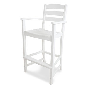 La Casa Café White Bar Height Arm Chair