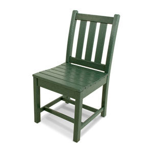 Traditional Garden Green Dining Side Chair