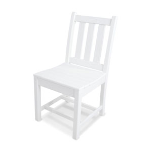 Traditional Garden White Dining Side Chair