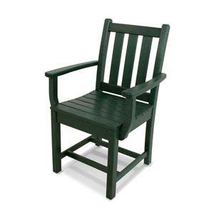 Traditional Garden Green Dining Arm Chair