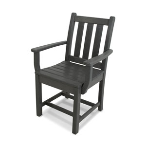 Traditional Garden Dining Arm Chair in Slate Grey