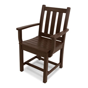 Traditional Garden Mahogany Dining Arm Chair