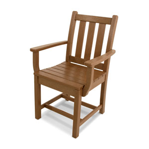 Traditional Garden Teak Dining Arm Chair